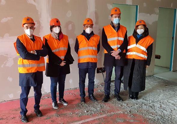 visita al cantiere della nuova residenza universitaria di San Cataldo a Pisa