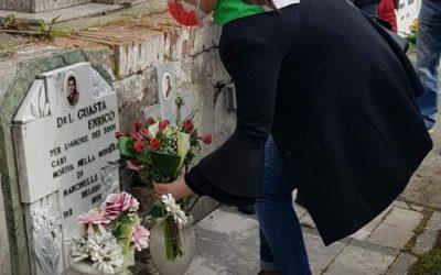 Sulla tomba di Enrico Del Guasta, partigiano e minatore