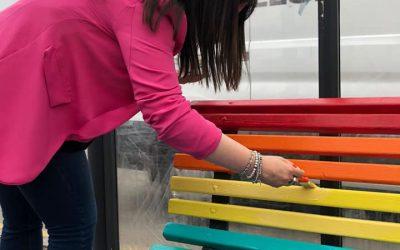 Inaugurazione panchine Rainbow a Montopoli