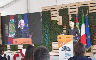 """Il Presidente Sergio Mattarella a San Rossore, per l'iniziativa """"Siete Presente"""""""